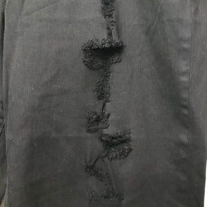 RACHEL Rachel Roy Jeans - Rachel Roy Denim-Girlfriend Ripped Cropped Jeans.
